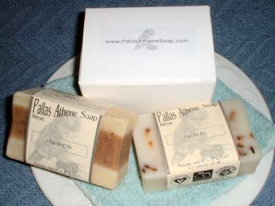 Gift set of handmade natural soap from Pallas Athene Soap! Organic, Vegan, Handmade Natural Soap!