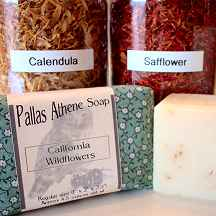 """California Wildflowers"" natural soap is a vegan handmade natural soap from Pallas Athene Soap. The best handmade natural soap!"
